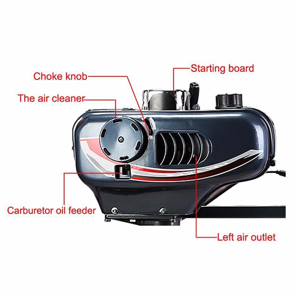 Vevor Updated Water Cooled 2 Stroke Boat Engine 2hp