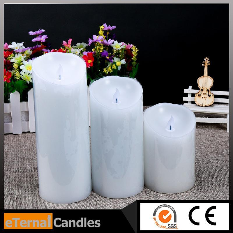 Brand new flameless christmas led candle lights rechargeable electric led candles