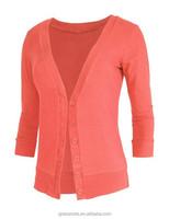 Womens 3/4 Sleeve Deep V Neck Knit Cardigan Women Fashion Sweater