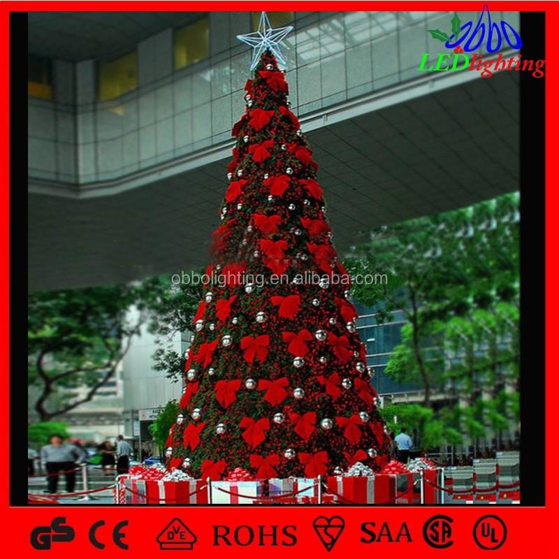 Exterior llev la decoraci n de metal gigante rbol de - Arbol de navidad exterior ...