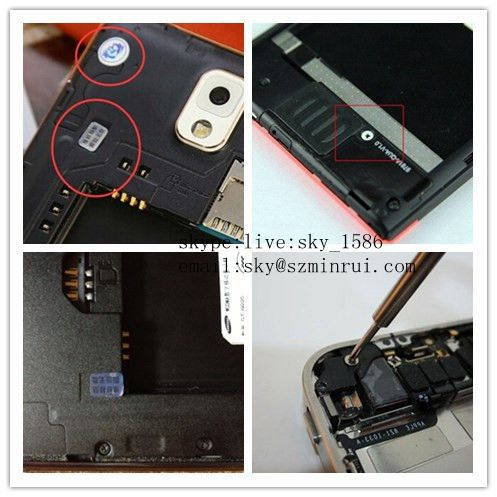 Minrui Widely Use Tamper Evident Warranty Sticker,One Time Use Destructive Phones Seal Stickers