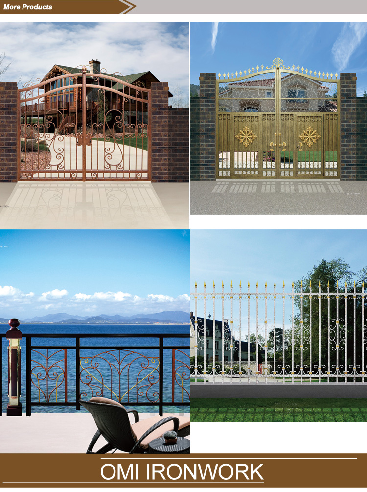 wrought iron main gate outdoor / luxury wrought iron gate / wrought iron door inserts