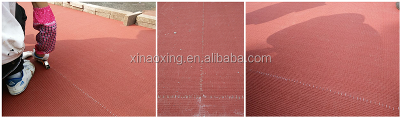 Outdoor running track field flooring made by rubber for stadium construction