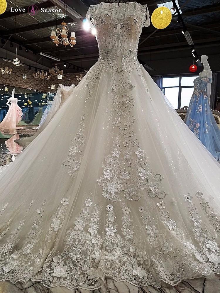 Ls00220 Cap Sleeves Beaded Latest Dress Designs Arabic Bridal ...