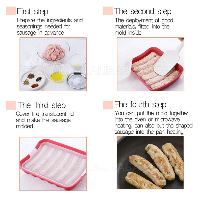 Easy Homemade Breakfast Sausage Shaper Mold Maker,6 In One