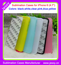 JESOY universal popular 2D sublimation sheet TPU cell phone case cover with metal sheet for IP6s
