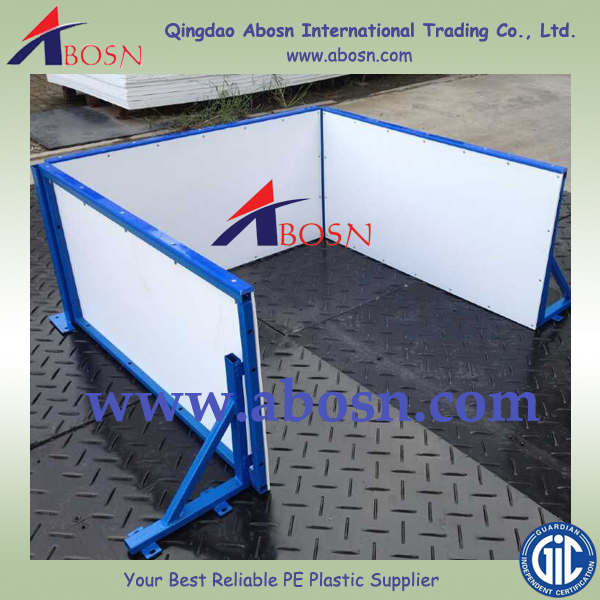 Hockey ice rink railing with Clear plastic top/ Ice hockey rink barrier system/football rink wall