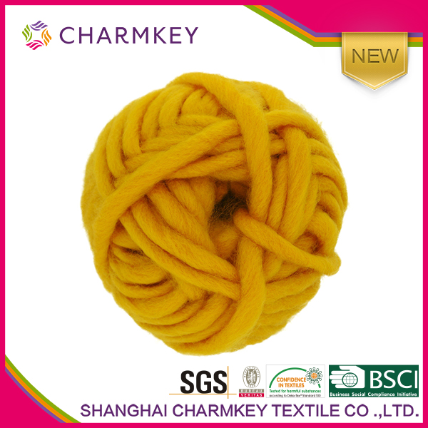 Charmkey textile super chunky yarn 80% acrylic 20% polyester blended for hand knitting yarn prices for gloves yarn dyed