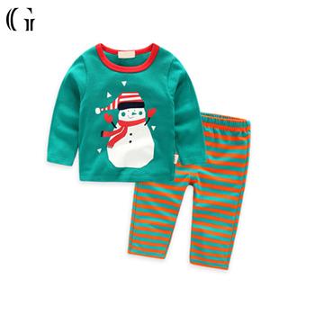 striped sleepwear sets children christmas pajamas