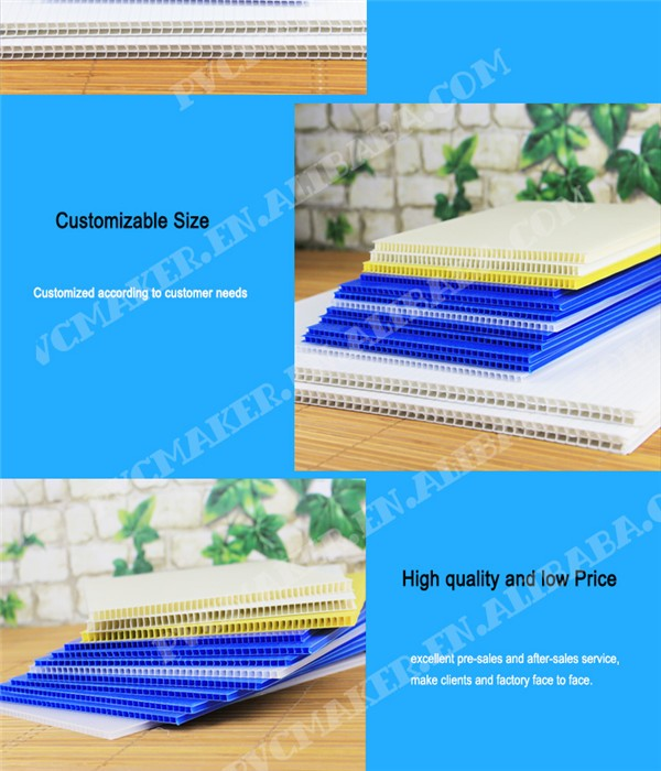 Supply PP Plastic Corrugated Hollow Sheet PP 4*8 Sheet