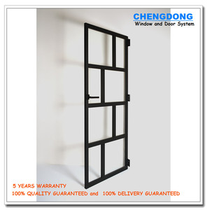 Hot sale lattice glass door design kitchen swinging door for interior used