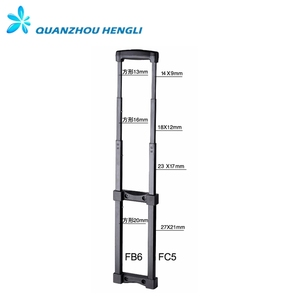 4 Stages Metal Luggage Trolley handle parts Good sale Telescopic Trolley Handle