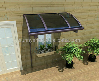 Customized aluminum home awnings Polycarbonate rain canopy awning for window awning