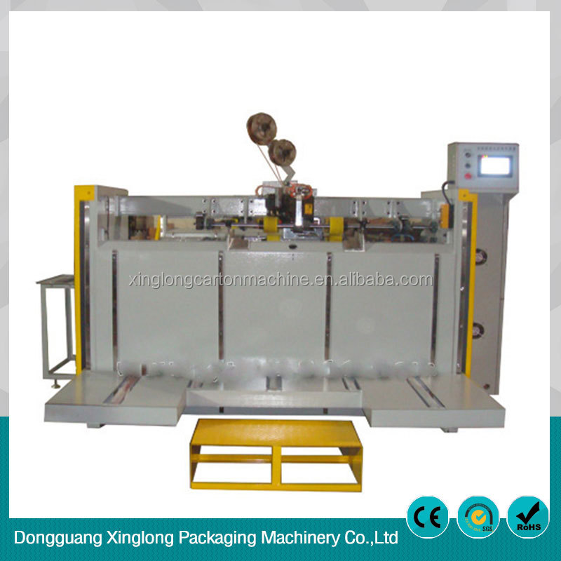 Corrugated cardboard machine semi-automatic double pieces of nailing machine