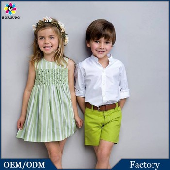 2 Pcs Fresh Green Short Pants Boys Long Sleeve Kids Shirts Colour