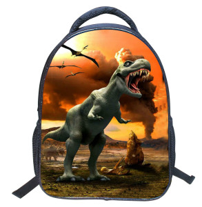In Stock Dinosaur 3D Printing School Backpack Jurassic Period School Bags 2018