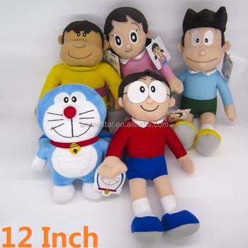 Cartone animato giapponese doraemon farcito doll cute anime