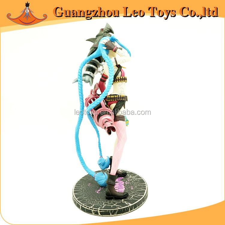 New Hot Eco-Friendly PVC Game League of Legends LOL Figure Jinx Anime Action Figures