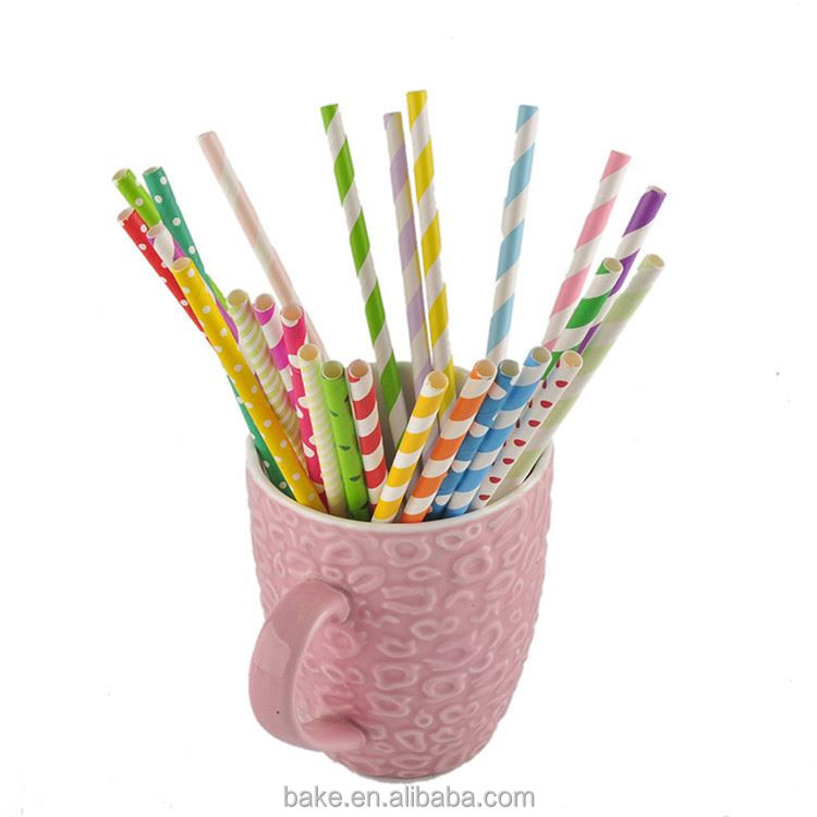 HOT sale OEM quality not easy to fold paper straw supplies