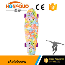 Water transfer printing 22*6 inch plastic skateboard, cruiser mini fish board for sale