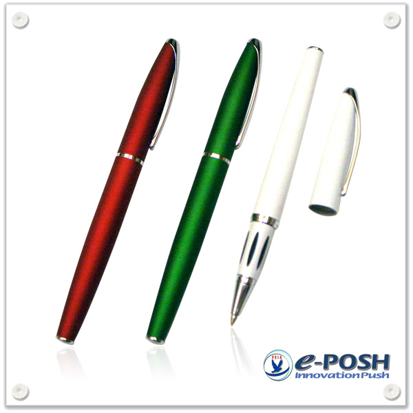 Elegant metal rollerball gel ink pen
