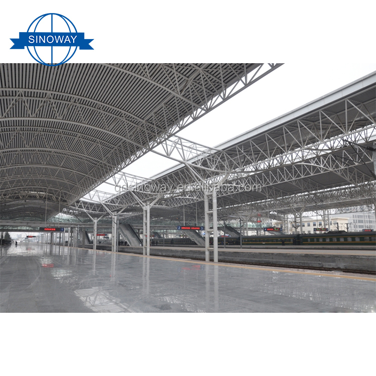 Light Type Steel space truss steel workshop prefabricated building houses