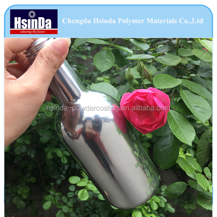 Epoxy polyester thermosetting glass bottle chrome mirror effect spray powder coating paint