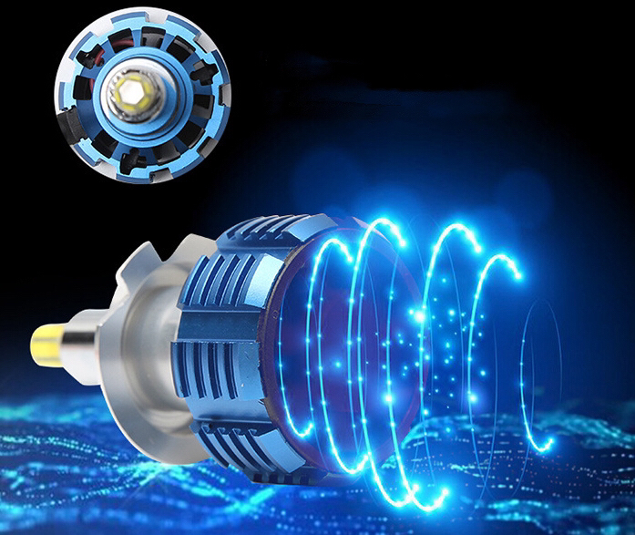 2020 Auto Lighting 80W 12000LM Led H7 C-R-E-E 360 degree  H7 H11 H1 H3 9005 9006 360 Led Headlight Bulb