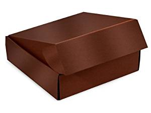 "Decorative Shipping Boxes - Chocolate Gourmet Shipping Boxes 12x9x3"" Auto Lock Boxes - (6 Per Pack) - WRAPS - 53CH"
