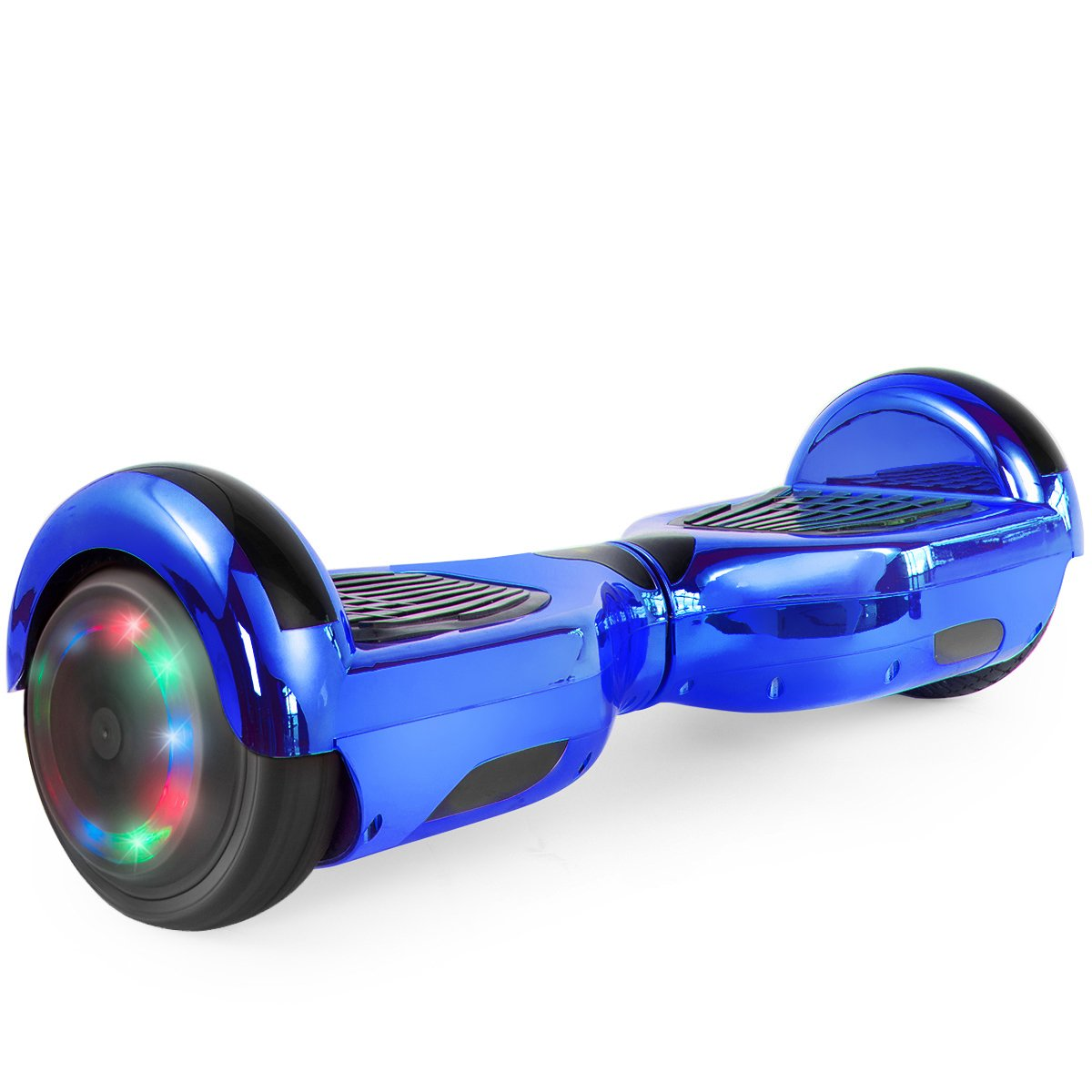 "WorryFree Gadgets Hoverboard UL 2272 Certified Light-up Wheel 6.5"" Bluetooth Speaker with LED Light Self Balancing Wheel Electric Scooter- Assorted Colors"