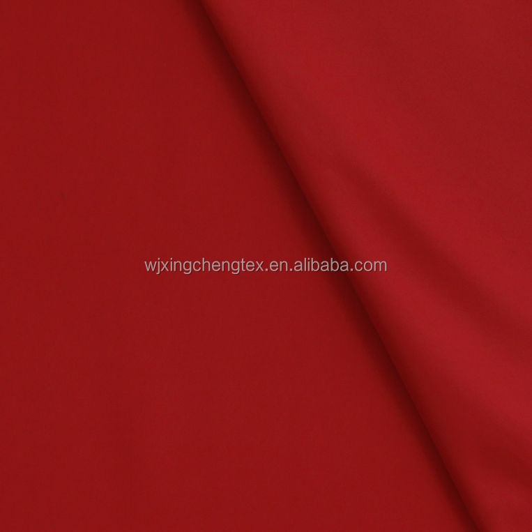 Polyester Woven Red Twill Weave Gabardine Fashion Fabric