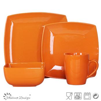 16pc orange dinner set  sc 1 st  Alibaba & 16pc Orange Dinner Set - Buy Dinnerware Set/russian Square Dinner ...