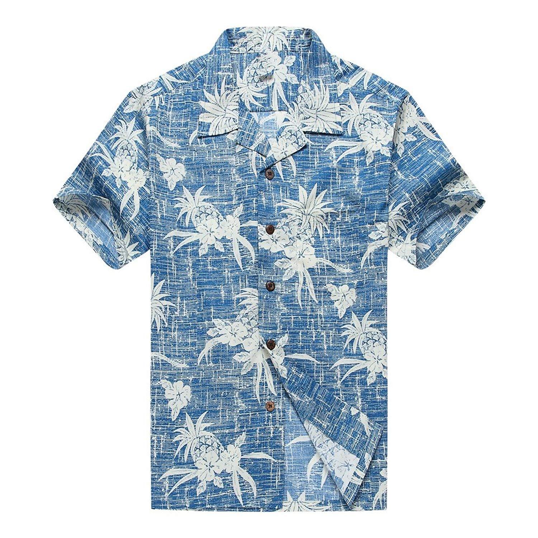 7de6ec70 Get Quotations · Hawaii Hangover Men's Hawaiian Shirt Aloha Shirt The New  Classic Map Flamingo