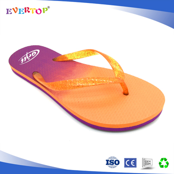 ab328f32c2326 Double color sole advertising slippers flip flops plastic sandals for women
