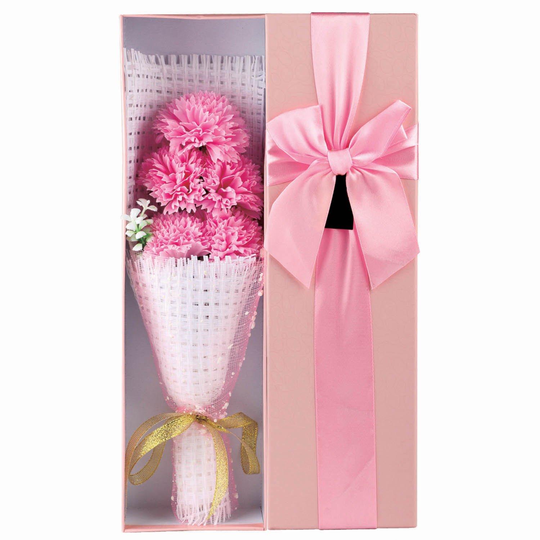 Buy 5 box 120 pcs Soap Flower in Heart-shaped box handmade rose ...
