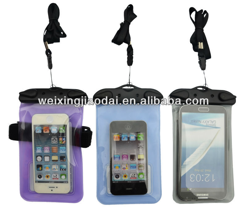Diving Waterproof Bag For iPod Touch <strong>iPhone</strong> <strong>4G</strong> 4S 5s 6swith Armband Lanyard