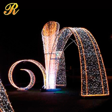 Outdoor big LED lighted commercial christmas decor