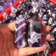 Wholesale natural angel aura quartz purple electroplated crystal point wand for sale