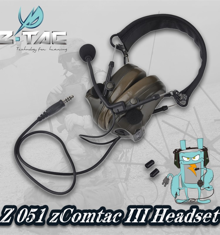 OEM Genuine Upgrade Tactical Headset Flexible Comtac III C3 Peltor Z051