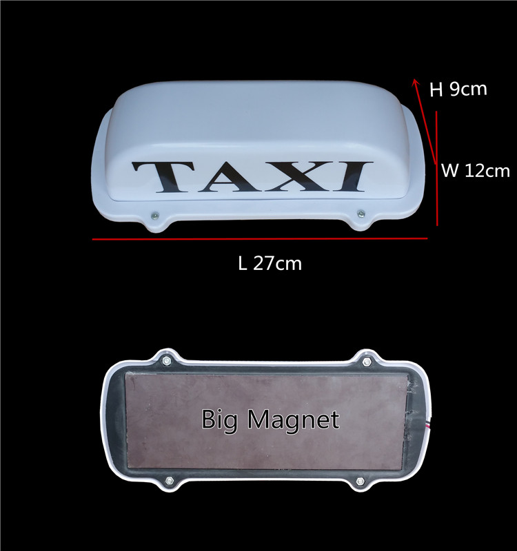 white color housing taxi light with yellow ligthing for taxi car