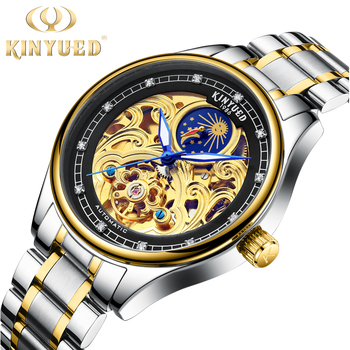 Tourbillon skeleton mechanical watches men luxury brand moon phase luminous automatic mechanical watch