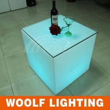 RGB led lighted cube tea tables