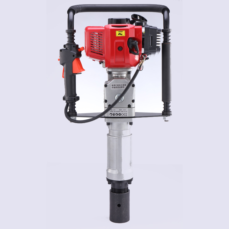 2019 promotion 4-stroke small Gasoline fence driver/post driver/pile hammer