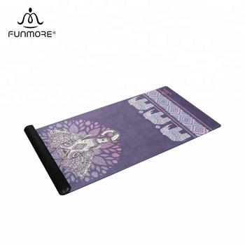 Eco amigável personalizado camurça tapete de yoga de borracha natural  orgânico atacado 7e180470bb57