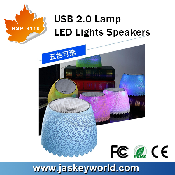 USB 2.0 LED Lights Speakers Desk Lamp Speakers Led Speaker