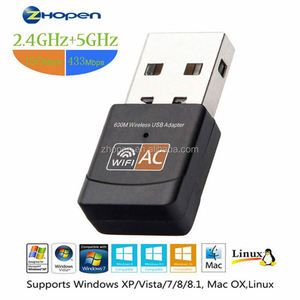 600Mbps Wifi Adapter Mini USB Wifi Adapter Wireless Network Adapter 802.11ac Dual Band 2.4G 5.8G USB Wifi Dongle for Desktop