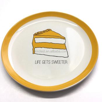 Pleasant Happy Birthday To You Ceramic Cake Plate Round With Custom Birthday Cards Printable Trancafe Filternl
