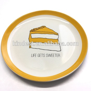 Happy Birthday To You Ceramic Cake Plate Round With Custom Printing