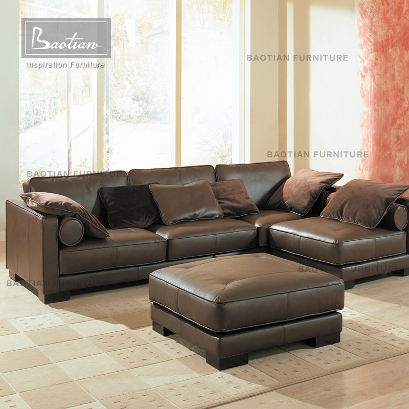 Terrific Baotian Furniture Popular Low Back Leather Corner Sofa With Stool For Home Buy Corner Sofa 2016 Best Selling Sofa Home Furniture Modern Product On Onthecornerstone Fun Painted Chair Ideas Images Onthecornerstoneorg