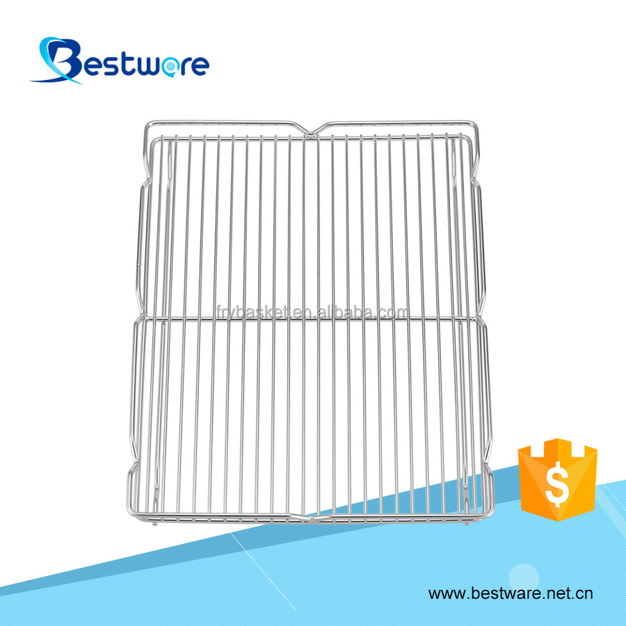 Dual Baking Stainless Steel 304 Polished Stainless Steel Wire Cooling Rack